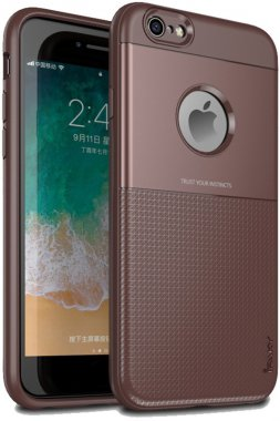apple brown case chehol design grid hybrid ipaky iphone nakladka serieselegant shield tpu66s