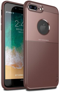 apple brown case chehol design grid hybrid ipaky iphone nakladka plus plus8 serieselegant shield tpu7