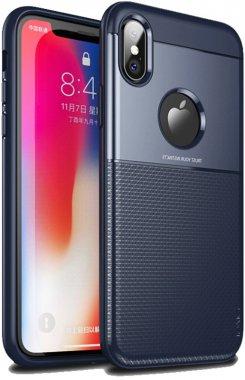 apple blue case chehol design grid hybrid ipaky iphone nakladka serieselegant shield tpuxs