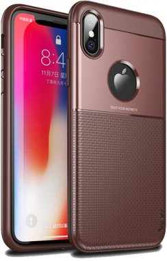 apple brown case chehol design grid hybrid ipaky iphone nakladka serieselegant shield tpuxs