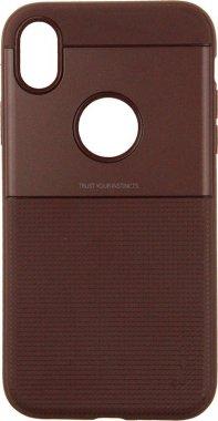 Чехол-накладка Ipaky Shield Series/Elegant Grid Design TPU Hybrid Case Apple iPhone XR Brown
