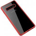 Чехол-накладка Ipaky Bright Series/TPU frame With Clear PC Case для Samsung Galaxy S10+ Red