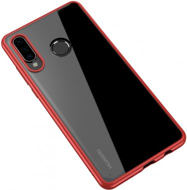 Чехол-накладка Ipaky Bright Series/TPU frame With Clear PC Case для Huawei P30 Lite Red