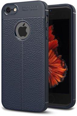apple blue case chehol ipaky iphone litchi nakladka se5s5 series stria tpu