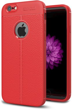 apple case chehol ipaky iphone litchi nakladka series stria tpu66sred