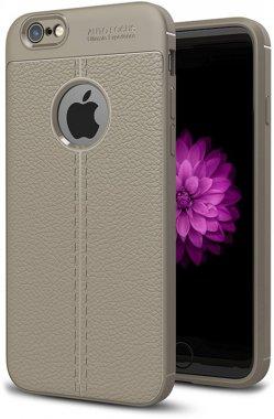 apple case chehol gray ipaky iphone litchi nakladka series stria tpu66s