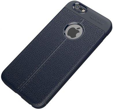 Чехол-накладка Ipaky TPU Litchi Stria Series Case Apple iPhone 6 Plus/6s Plus Blue