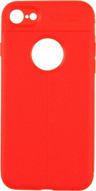 Чехол-накладка Ipaky TPU Litchi Stria Series Case Apple iPhone 7/8 Red