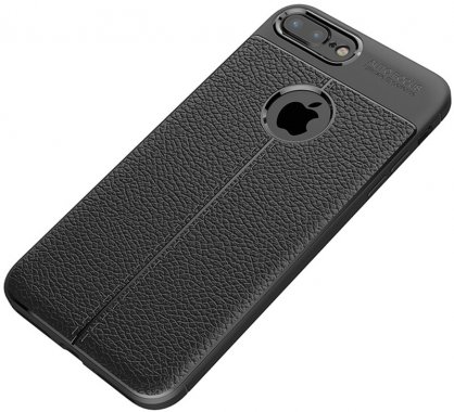 apple black case chehol ipaky iphone litchi nakladka plus plus8 series stria tpu7