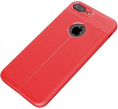 apple case chehol ipaky iphone litchi nakladka plus plus8 series stria tpu7red