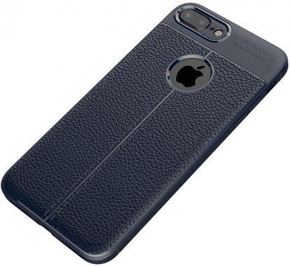 apple blue case chehol ipaky iphone litchi nakladka plus plus8 series stria tpu7