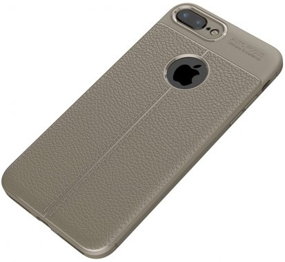 apple case chehol gray ipaky iphone litchi nakladka plus plus8 series stria tpu7
