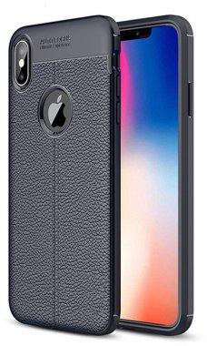 apple blue case chehol ipaky iphone litchi nakladka series stria tpuxxs