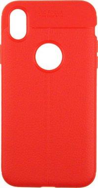 Чехол-накладка Ipaky TPU Litchi Stria Series Case Apple iPhone XR Red