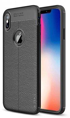 apple black case chehol ipaky iphone litchi nakladka series stria tpuxsmax
