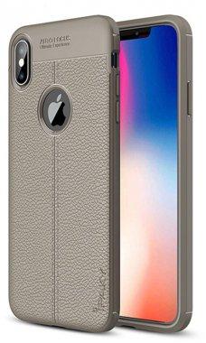 apple case chehol gray ipaky iphone litchi nakladka series stria tpuxsmax