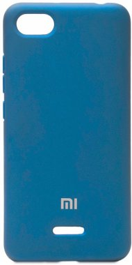 6a blue case chehol nakladka navy redmi silicone xiaomi