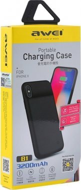 akkumulyator awei b1forx backup battery black case chehol iphone wireless