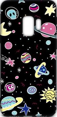 Чехол-накладка TOTO Cartoon Soft Silicone TPU Case Samsung Galaxy S9 Space Planets Black