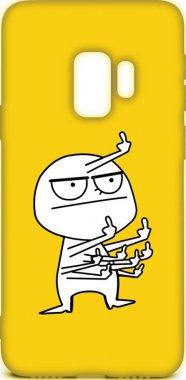 Чехол-накладка TOTO Cartoon Soft Silicone TPU Case Samsung Galaxy S9 FK9 Yellow
