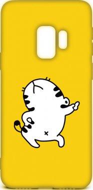 Чехол-накладка TOTO Cartoon Soft Silicone TPU Case Samsung Galaxy S9 Cat Yellow
