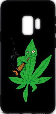 Чехол-накладка TOTO Cartoon Soft Silicone TPU Case Samsung Galaxy S9 Cannabis Black
