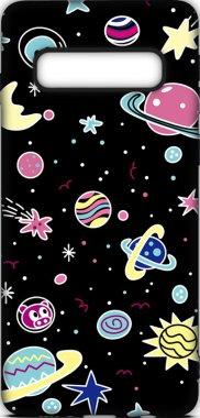 Чехол-накладка TOTO Cartoon Soft Silicone TPU Case Samsung Galaxy S10 Space Planets Black