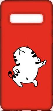 Чехол-накладка TOTO Cartoon Soft Silicone TPU Case Samsung Galaxy S10 Cat Red