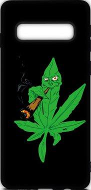 Чехол-накладка TOTO Cartoon Soft Silicone TPU Case Samsung Galaxy S10 Cannabis Black