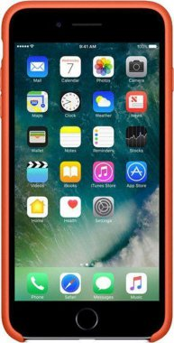 7 apple case chehol iphone nakladka orange plus plus8 silicone toto
