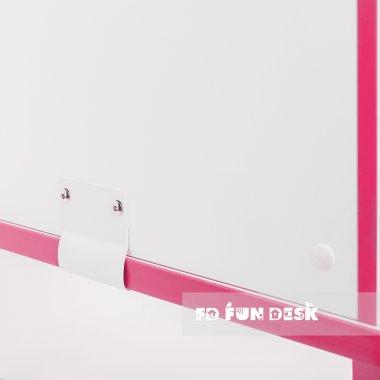 Регулируемая парта с надстройкой FunDesk Creare Pink