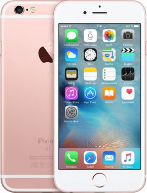 Смартфон Apple iPhone 6S 16GB Rose Gold (MKQM2)