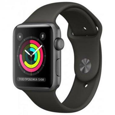 Смарт-часы Apple Watch Series 3 GPS 38mm Space Gray Aluminum w. Black Sport B. - Space Gray (MQKV2)