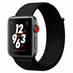 Смарт-часы Apple Watch Nike+ Series 3 GPS + Cellular 42mm Space Grey Aluminum with Black/Pure PlatinumSport Loop (MQLF2)