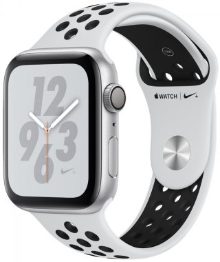Apple Watch Series 4 Nike+ (GPS) 44mm Silver Aluminum Case with Pure Platinum/Black Nike Sport Band