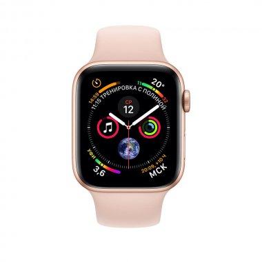Apple Watch Series 4 (GPS) 40mm Gold Aluminum w. Pink Sand Sport Band