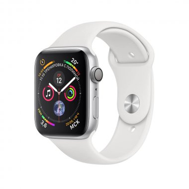 Смарт-часы Apple Watch Series 4 (GPS) 44mm Silver Aluminum Case with White Sport Band (MU6A2)