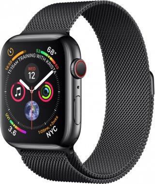 Смарт-часы Apple Watch Series 4 (GPS+Cellular) 44mm Space Black Stainless Steel Case With Black Milanese Loop