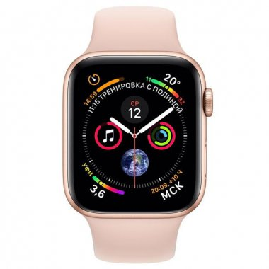 Смарт-часы Apple Watch Series 4 (GPS) 40mm Gold Aluminum w. Pink Sand Sport Band (MTUJ2/MTVG2)