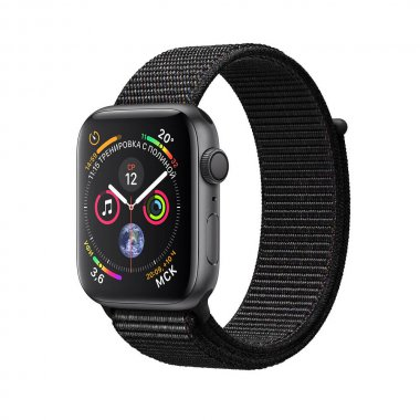 Смарт-часы Apple Watch Series 4 (GPS) 40mm Space Gray Aluminum w. Black Sport Loop (MU672)
