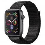 Смарт-часы Apple Watch Series 4 (GPS) 44mm Space Gray Aluminum w. Black Sport Loop (MU6E2)