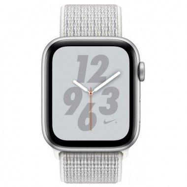 Смарт-часы Apple Watch Series 4 Nike+ GPS 40mm Silver Aluminum Case with Summit White Nike Sport Loop (MU7F2)