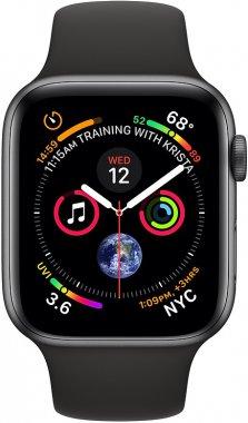 Смарт-часы Apple Watch Series 4 GPS + Cellular 40mm Space Gray Aluminum Case with Black Sport Band (MTUG2)