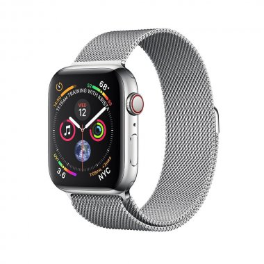 Смарт-часы Apple Watch Series 4 GPS + LTE 44mm Steel w. Milanese l. (MTV42/MTX12)