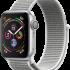 Смарт-часы Apple Watch Series 4 (GPS) 40mm Silver Aluminium case with White Sport loop (MU652)