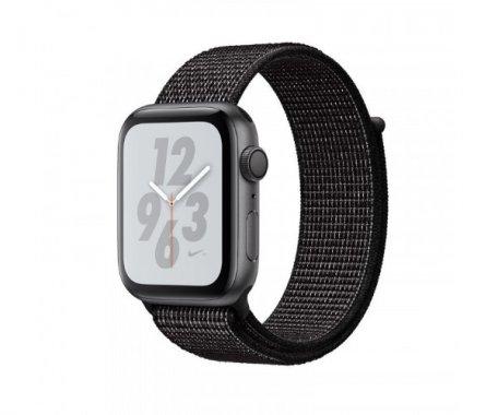 Смарт-часы Apple Watch Nike+ Series 4 GPS 44mm Space Gray Aluminum Case with Black Nike Sport Loop (MU7J2)