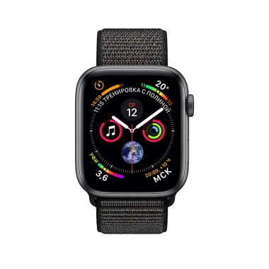Смарт-часы Apple Watch Series 4 GPS 40mm Space Gray Aluminum Case with Black Sport Loop (MU672)