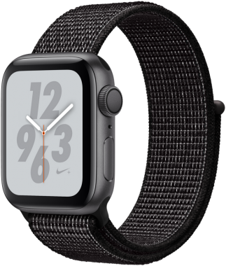 Смарт-часы Apple Watch Nike+ Series 4 GPS 40mm Space Gray Aluminum Case with Black Nike Sport Loop MU7G2