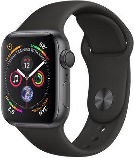 Смарт-часы Apple Watch Series 4 GPS 40mm Space Gray Aluminum Case with Black Sport Band MU662 US