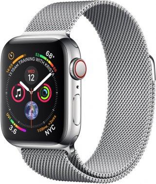 Смарт-часы Apple Watch Series 4 GPS + LTE 40mm Steel w. Milanese l. (MTUM2/MTVK2)